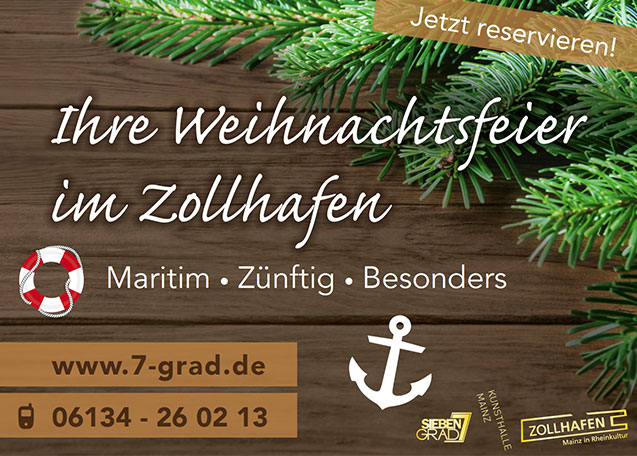 ihre weihnachtsfeier im zollhafen zollhafen mainz. Black Bedroom Furniture Sets. Home Design Ideas